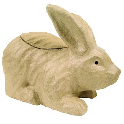 ペーパーマッシュL  蓋つきウサギ