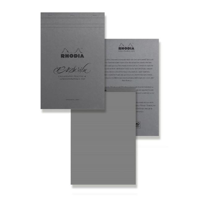 ロディア PAScribe カリグラフィーパッド A4+ グレー