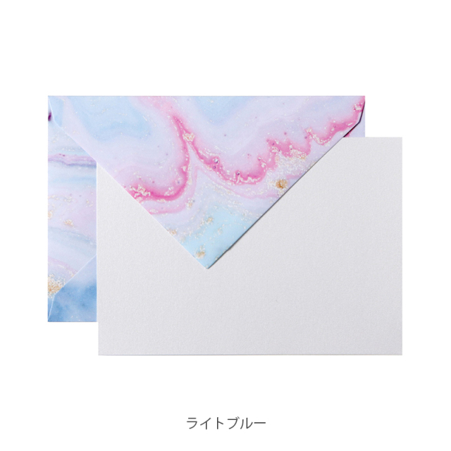 ポレン カード・封筒セット マーブル