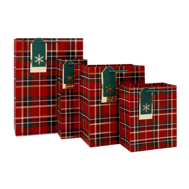 クリスマスペーパーバッグ Tartan/タータン
