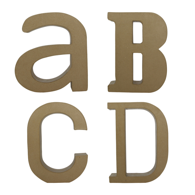 ペーパーマッシュ デザインアルファベット