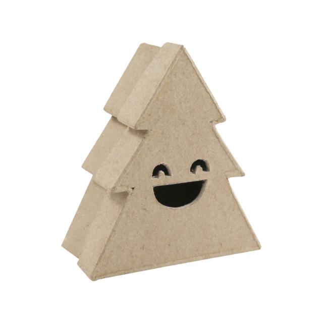 【クリスマス】ペーパーマッシュ ツリーボックス スマイルS
