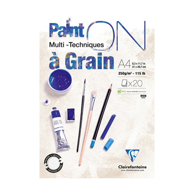 PAINT'ON ペイントオン A4パッド with Grain