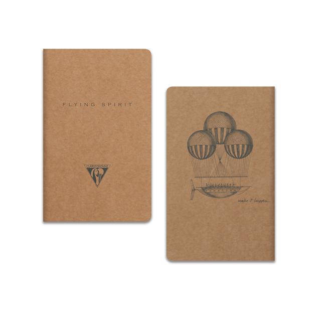 フライングスピリット 糸綴じノート 7.5×12 クラフト
