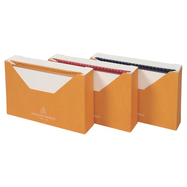 JACQUES HERBIN カード封筒セット(15枚入り) 9x14cm