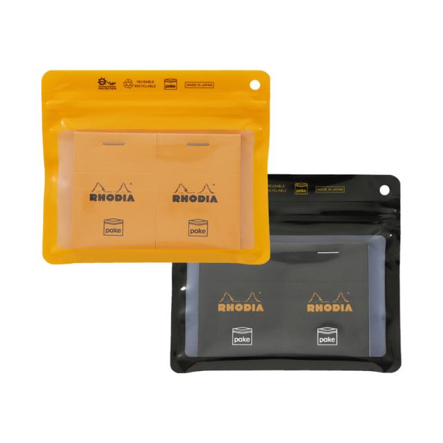 RHODIA×Pake® ブロックロディアNo.10&パケ ジッパーバッグセット