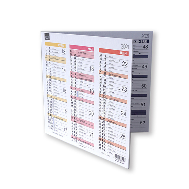 【30%OFF】【2021年版】カレンダー オリガミ 18x18cm
