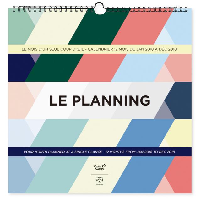 【特別価格】【2018年版】LE PLANNING カレンダー プランニング/30x30cm