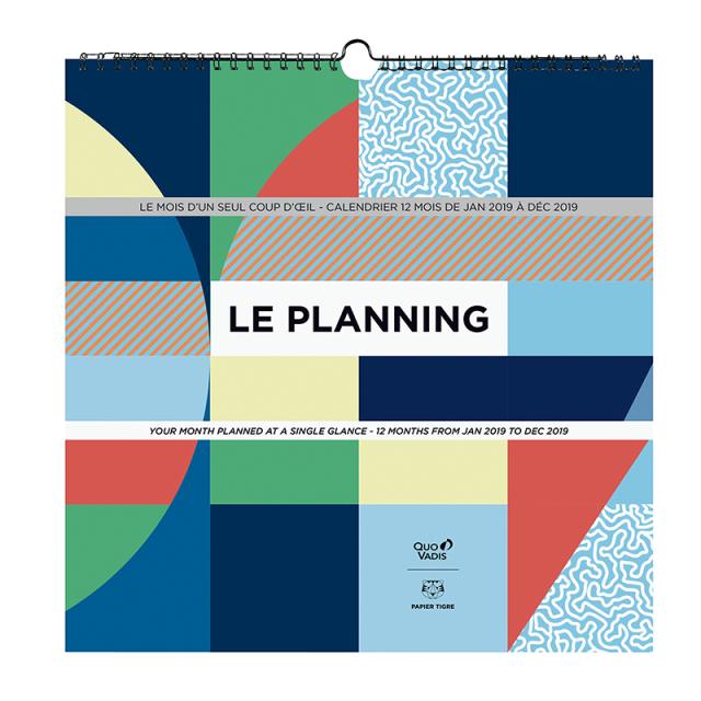 【特別価格】【2019年版】LE PLANNING カレンダー プランニング/30x30cm