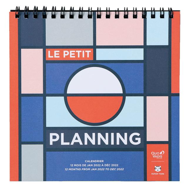【2022年1月始まり版】LE PLANNING カレンダー プティプランニング/16x16cm