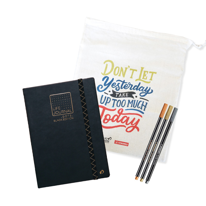 LIFE JOURNAL DOTS -BLACK EDITION- × STABILO SET