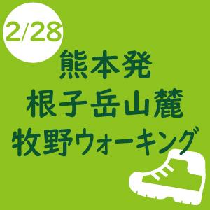 熊本発 シェルパ決算感謝登山[根子岳山麓 牧野ウォーキング] -2019年2月28日-