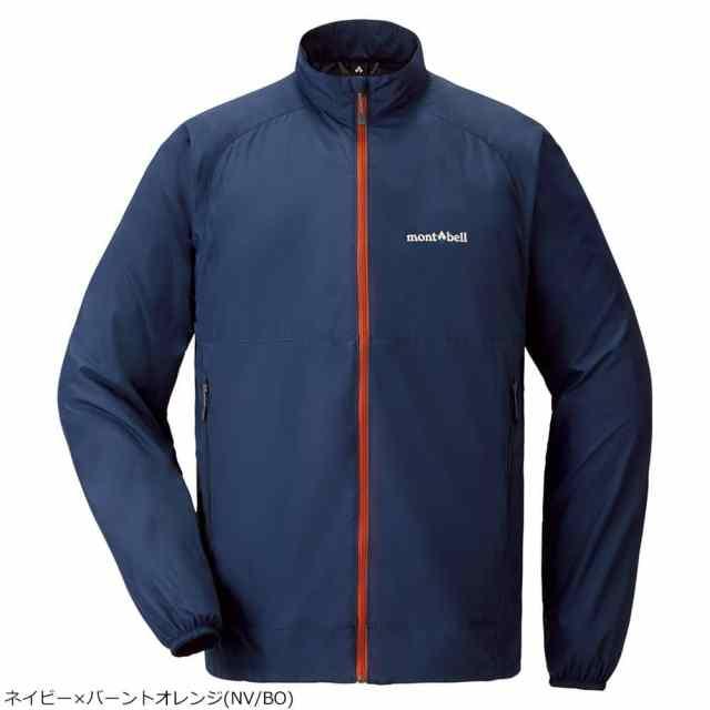 mont-bell(モンベル) ウインドブラストジャケット Men's ネイビー×バーントオレンジ 1103240