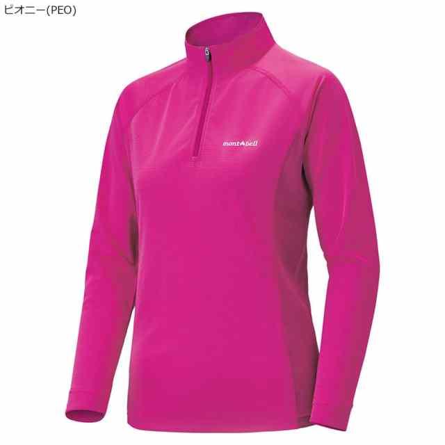 mont-bell(モンベル) クールロングスリーブジップシャツ Women's ピオニー 1104931