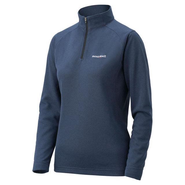 mont-bell(モンベル) ウイックロン ZEO ロングスリーブ ジップシャツ Women's チャコールグレー 1104941