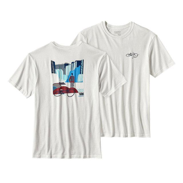 patagonia(パタゴニア) M's Pedaling Pescadero Cotton T-Shirt WHI 39064