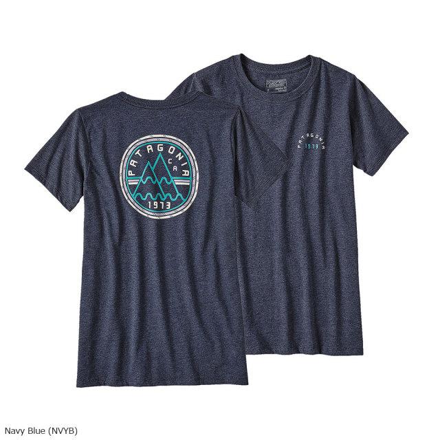 patagonia(パタゴニア) W's Mt. Minded Peaks Cotton/Poly Crew T-Shirt NVYB 39073