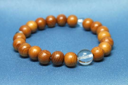 念珠ブレスレット一位8mm珠 水晶仕立