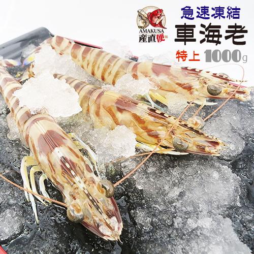 送料無料 特上急速凍結車海老1kg(20-30尾)