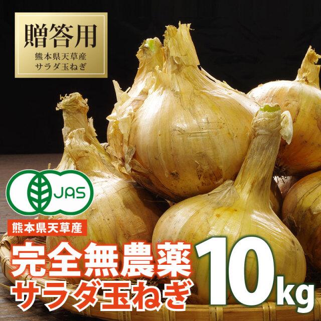 完全有機 サラダたまねぎ10kg 熊本県天草産