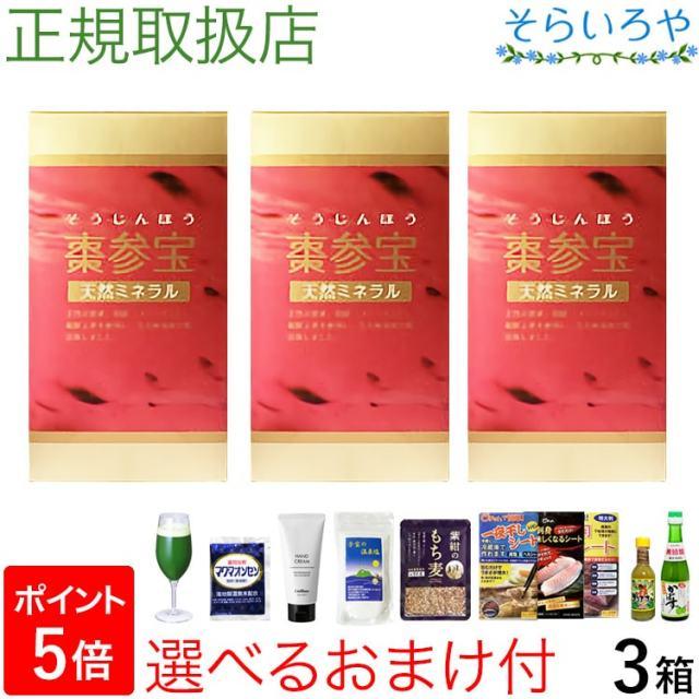 棗参宝 そうじんほう 100粒×3箱 棗(なつめ)の鉄分+阿膠(コラーゲン) 徳潤