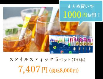 スタイルスティック 5セット(120本)7,407円(税込8,000円)
