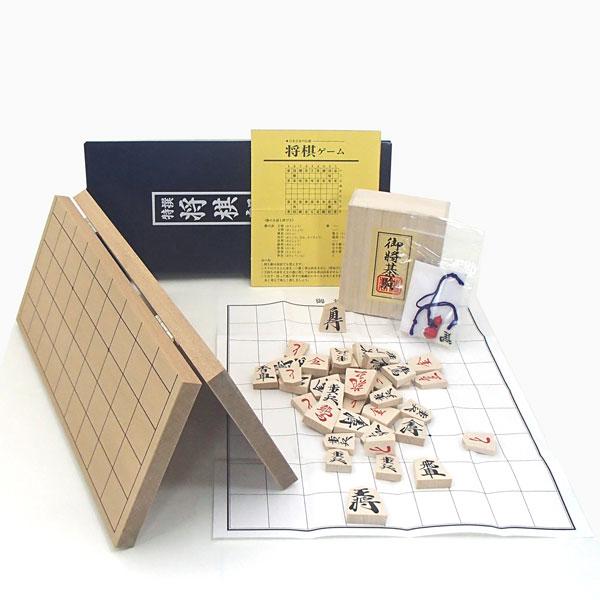 囲碁ラボオリジナルP製根付け2個付新桂4号折将棋盤と優良押