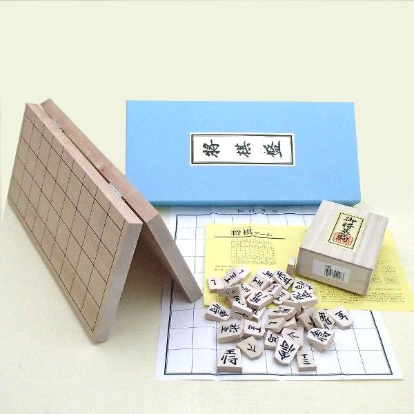 新桂6号折将棋盤と新槙彫の将棋セット