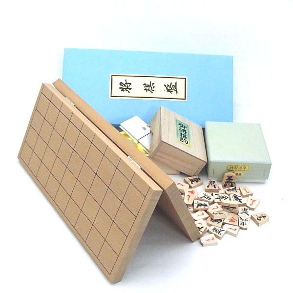 将棋セット 新桂6号折将棋盤と特製源平将棋駒