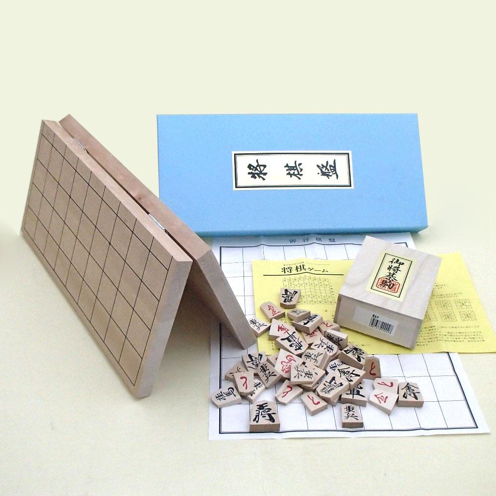 新桂6号折将棋盤と優良押しの将棋セット
