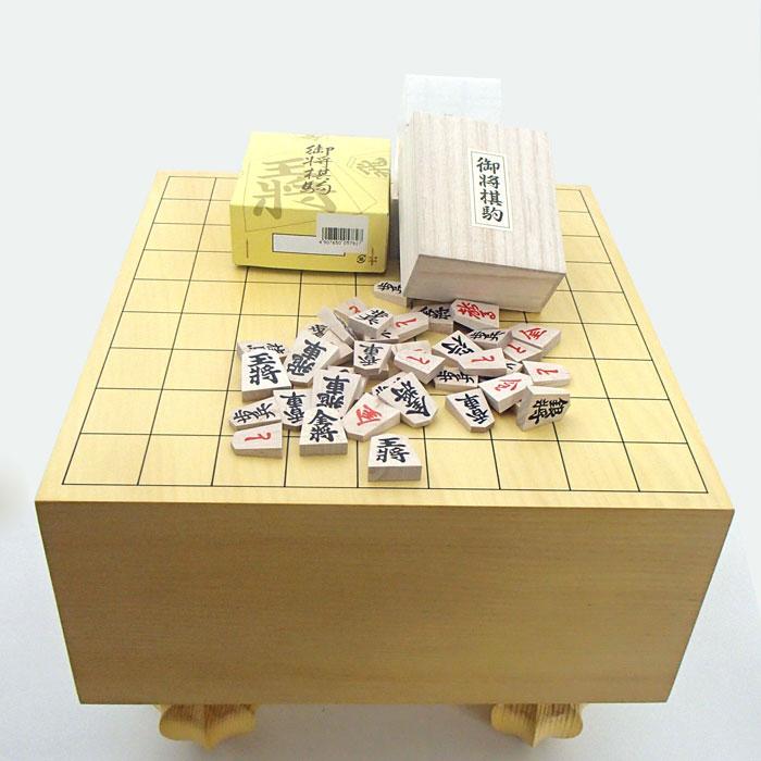 エコ足付将棋盤5寸と木製特選将棋駒
