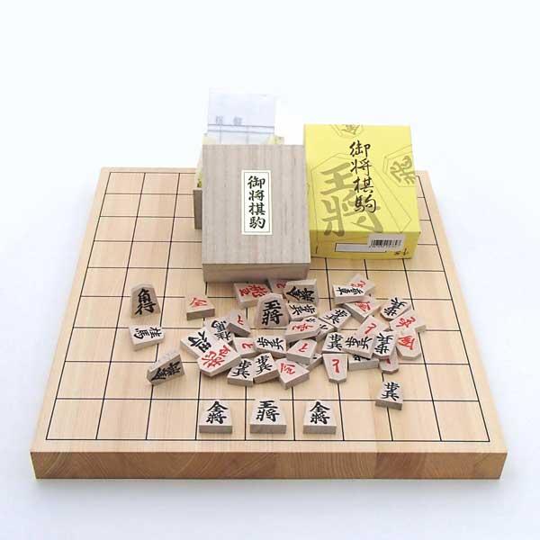 桧10号将棋盤と特選将棋駒