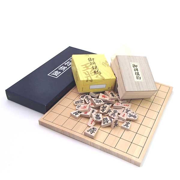 桧4号折将棋盤と特選駒