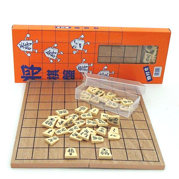 本格将棋盤プラスチック将棋駒付フルセット