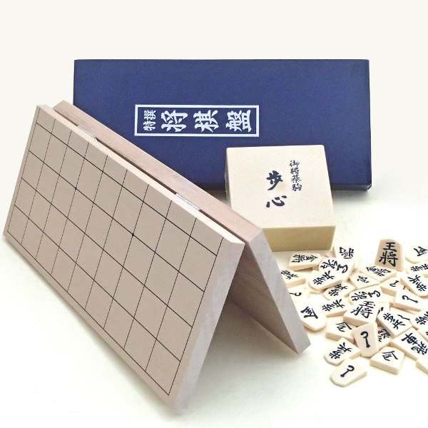 新桂4号折将棋盤とプラスチック製駒歩心のセット