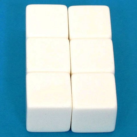 サイコロ 白(6個組)