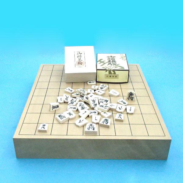 木製将棋セット 新桂2寸卓上接合将棋盤と白椿中彫将棋駒