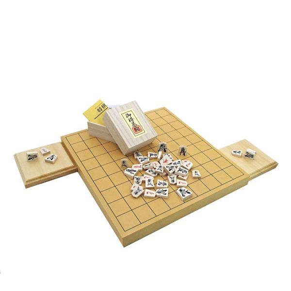 新かや1寸卓上接合将棋盤竹と人気の優良押し駒に駒台付
