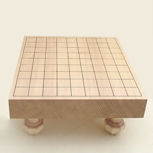 将棋盤 新かや2寸足付一枚板将棋盤 竹