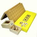 将棋セット 新桂7号折将棋盤と新槙彫駒のセット
