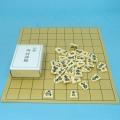 塩ビの将棋盤とプラスチック製上彫将棋駒