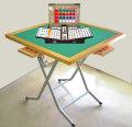 麻雀セット 折りたたみ式立卓麻雀卓平成と麻雀牌水仙のセット