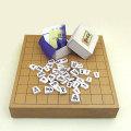将棋セット 新桂2寸卓上一枚板将棋盤と白椿上彫駒のセット