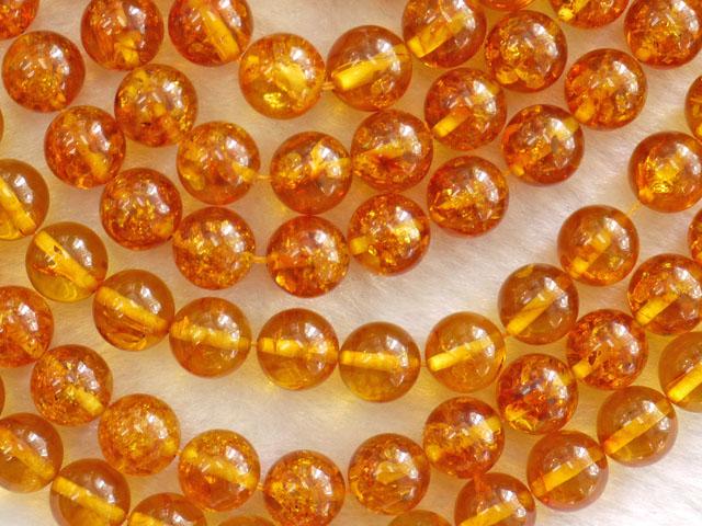 琥珀(アンバー) 10ミリ 【bz-amber-10】【定型外可】