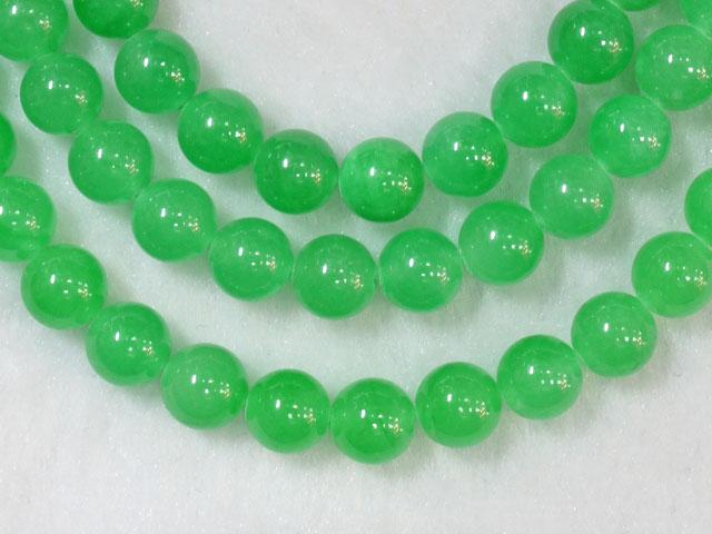 翡翠(グリーン染め) 8ミリ 【bz-jade-dyed-green8】【定型外可】
