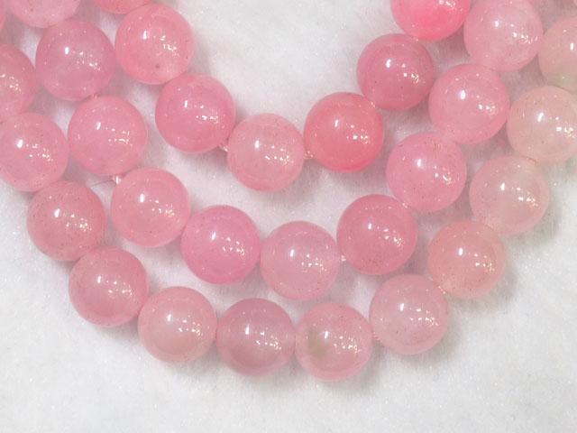 翡翠(ピンク染め) 10ミリ 【bz-jade-dyed-pink10】【定型外可】