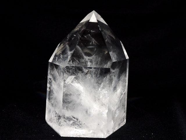 【半額SALE】水晶ポイント 3.40kg サイズ(約):縦19×横13×奥行10cm