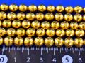 水晶に14金メッキ加工108面カット 6ミリ