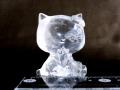 水晶猫彫刻(大) 約80グラム