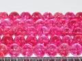染めクラック水晶 ピンクカラー 10ミリ